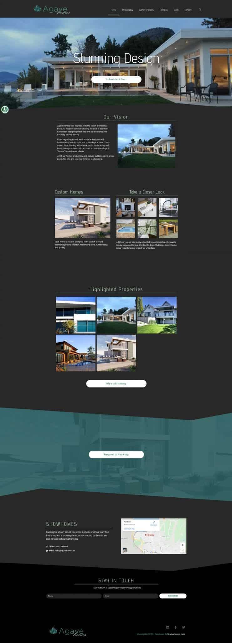 Agave Homes Website