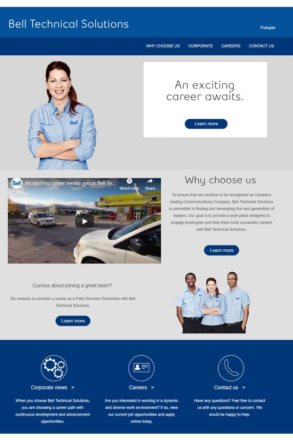 Bell Technical Solutions website screenshot