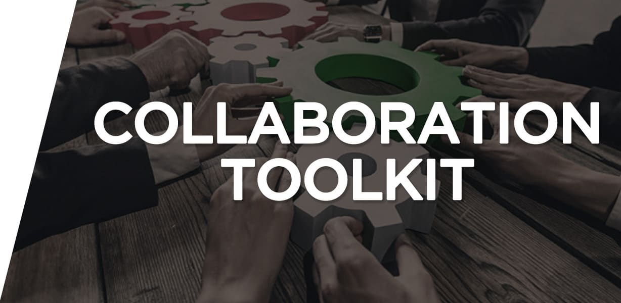 collaboration and download button