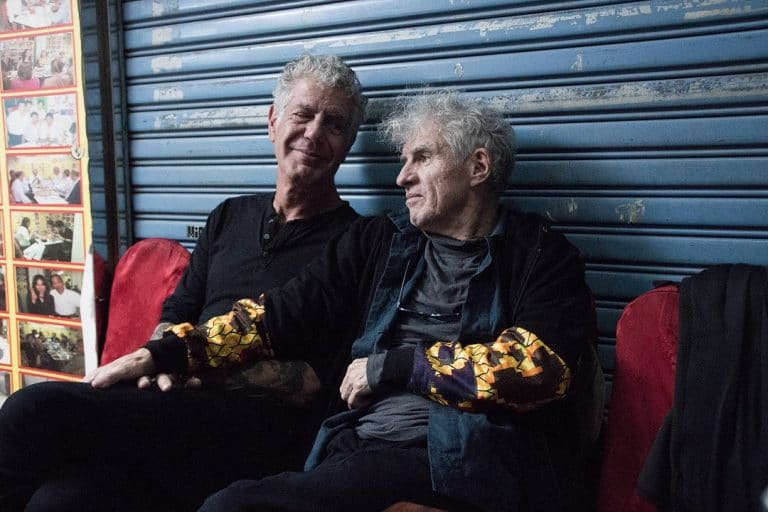 Anthony Bourdain and Christopher Doyle discussing art, colours and brands