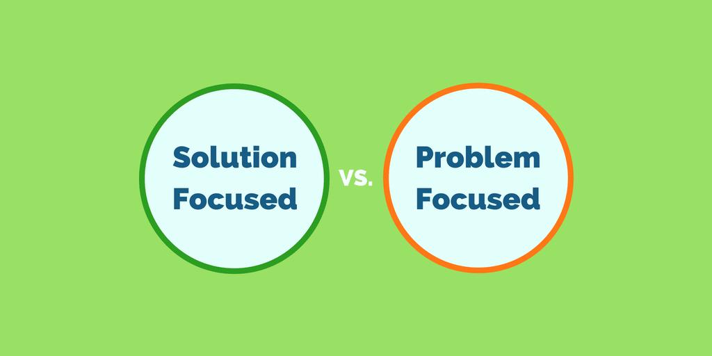 Design Thinking - solution focussed or problem focussed