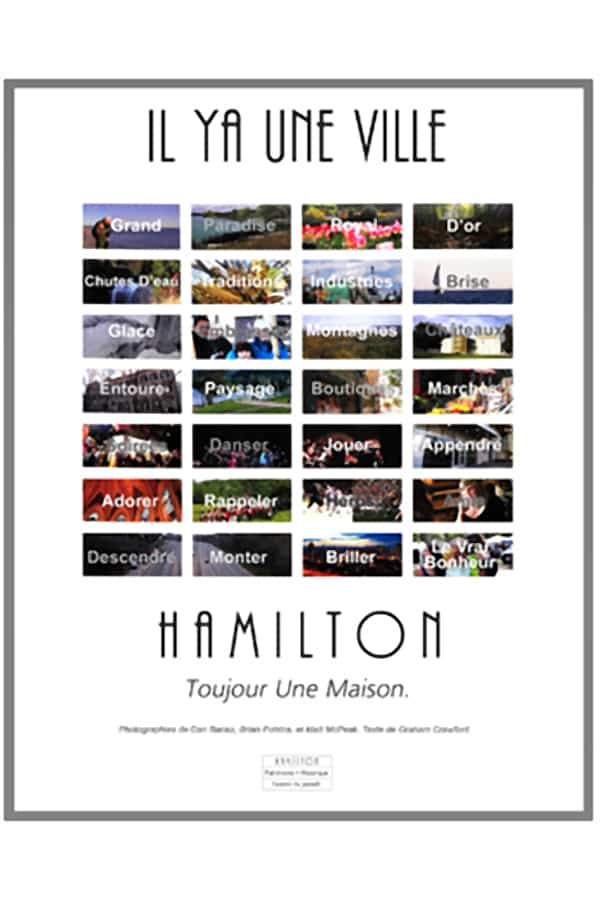 Hamilton City of Waterfalls poster - French