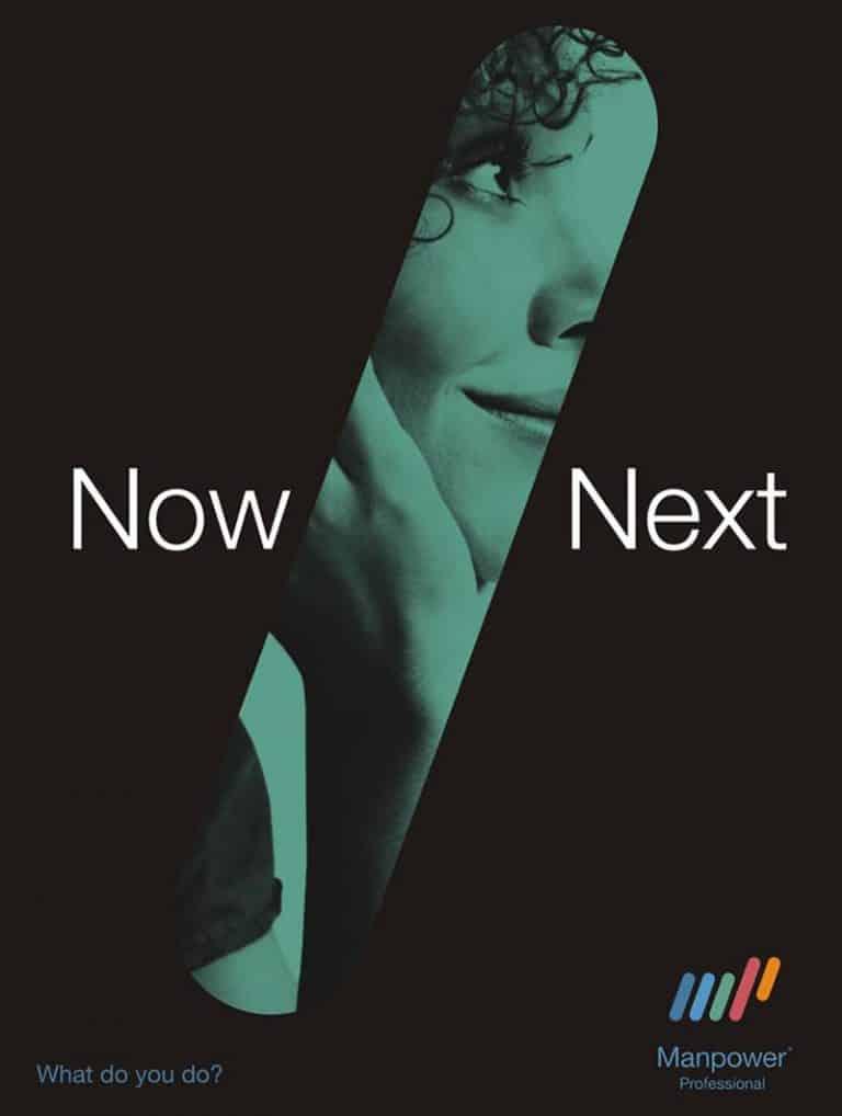 manpower now next poster design