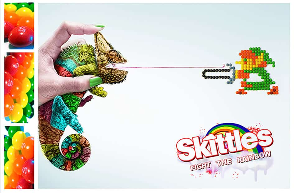 Skittles fight the rainbow creative campaign