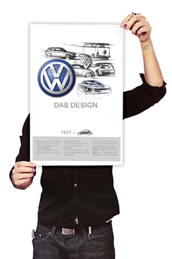 Volkswagen VW futuristic car design Das Auto poster print media