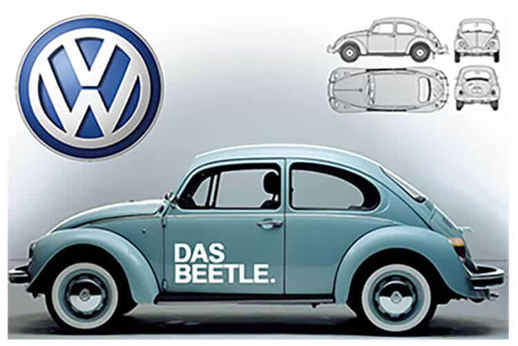 Volkswagen VW beetle volksfest poster