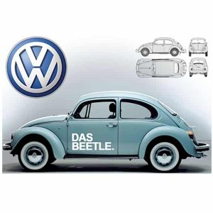 Volkswagen VW Beetle advertisement Das Auto