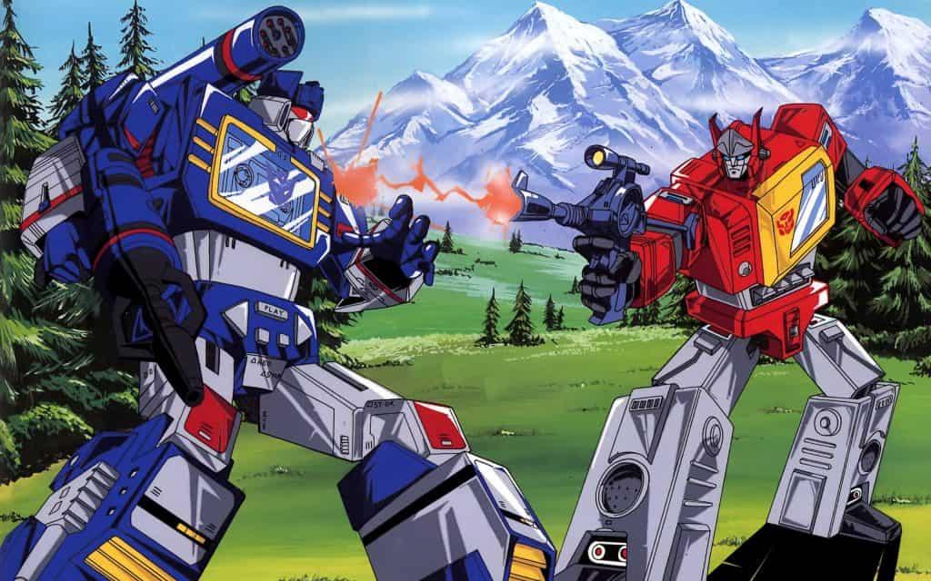 autobots fighting decepticons